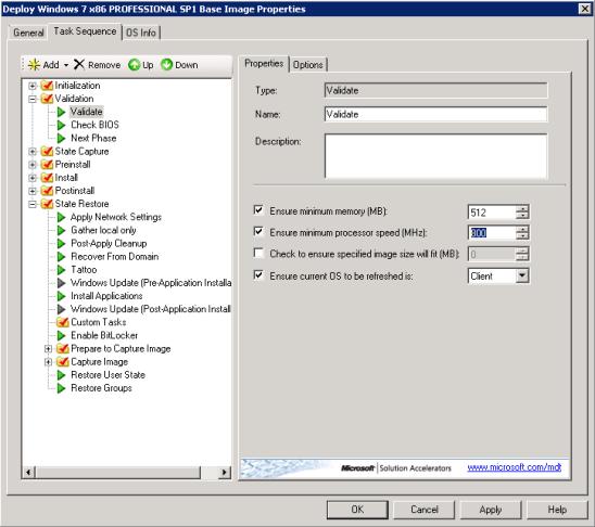 Virtual PC Validate Settings