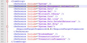 XAML - Editing XAMLApp.csproj